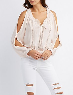 Ruffle-Trim Peasant Top