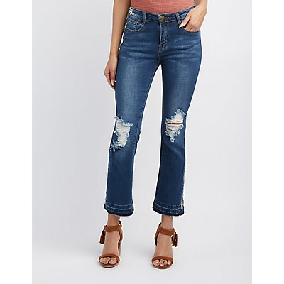 Machine Jeans Embroidered Flare Jeans