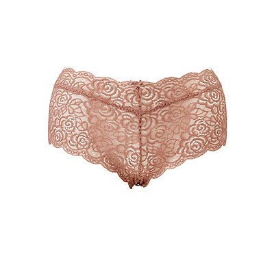 Plus Size Scalloped Lace Cheeky Panties