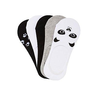 Assorted Panda Shoe Liners - 5 Pack
