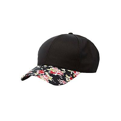 Floral Brim Baseball Hat