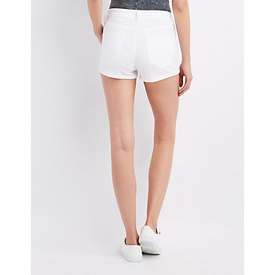 Refuge Hi-Rise Cuffed Cheeky Shorts