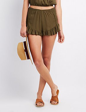 Sexy Denim, High-Waisted, & Lace Shorts | Charlotte Russe