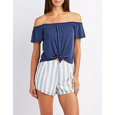 Knotted Off-The-Shoulder Top