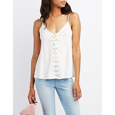 Lace-Up Swing Tank Top