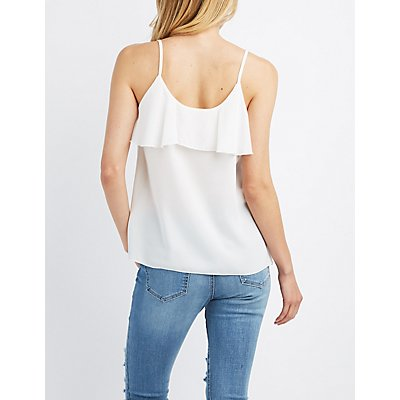 Ruffle-Trim Tank Top