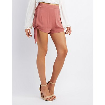 Gauze Side-Tie Shorts