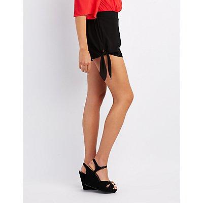 Gauze Side-Tie Shorts