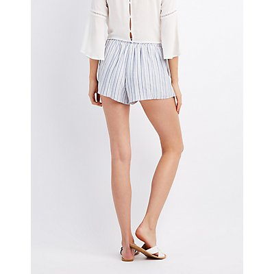 Striped Gauze Shorts