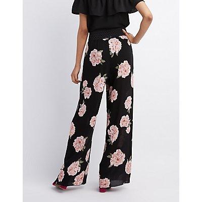 Floral Wide-Leg Pants