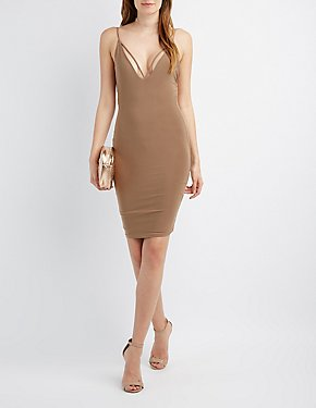Strappy Backless Bodycon Dress