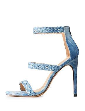 Braided Three-Strap Sandals