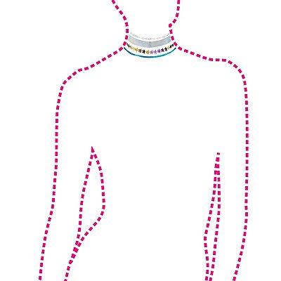 Embellished Choker Necklaces - 4 Pack