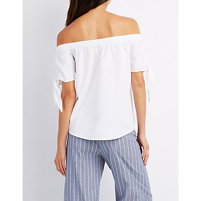 Tied Off-The-Shoulder Top