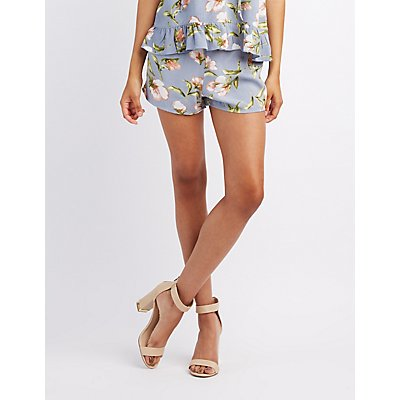 Floral High-Rise Shorts