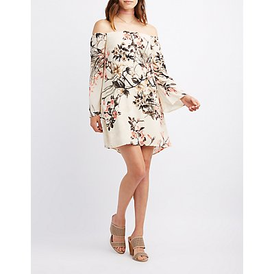 Floral Off-The-Shoulder Shift Dress