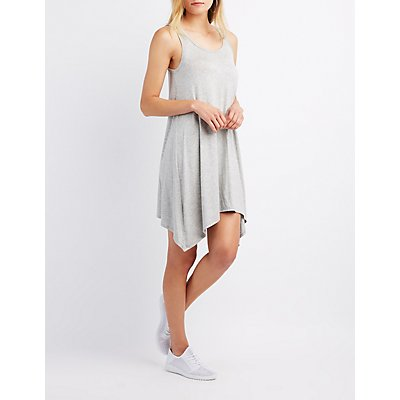 Sharkbite Hem Swing Dress