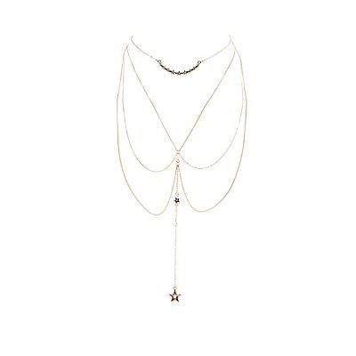 Plus Size Embellished Layered Choker Necklace