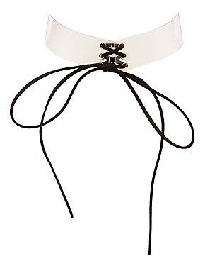 Plus Size Clear Corset Choker Necklace