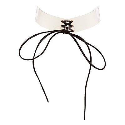 Clear Corset Choker Necklace