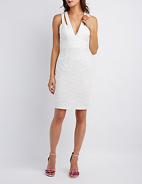 Lace Cut-Out Bodycon Dress