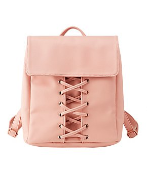 Lattice-Front Backpack