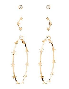 Star Hoop & Stud Earrings - 3 Pack