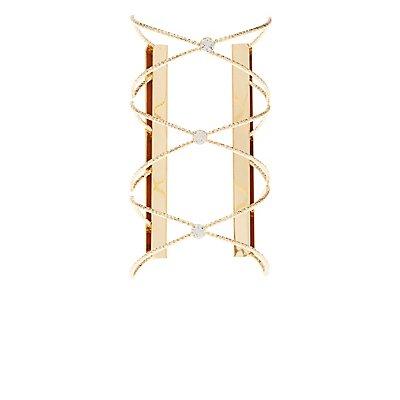 Embellished Oversize Cuff Bracelet