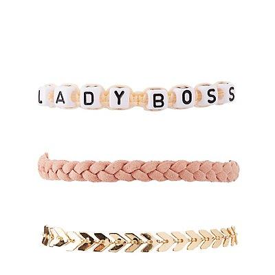 Lady Boss Layering Bracelets - 5 Pack
