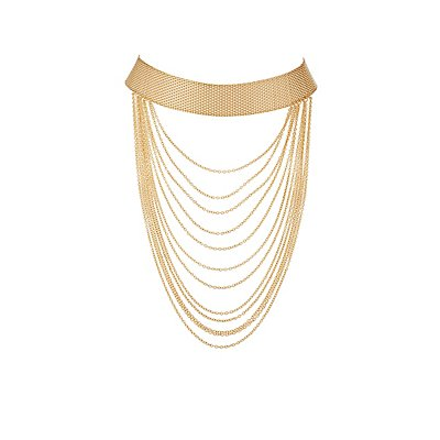 Plus Size Tiered Chain Choker Necklace
