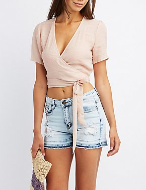 Wrap-Tie Crop Top