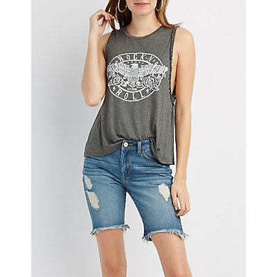 Rock 'N' Roll Graphic Tank Top