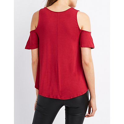 Cold Shoulder Swing Tee