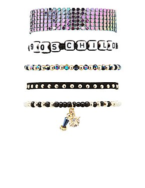 90's Child Layering Bracelets - 5 Pack