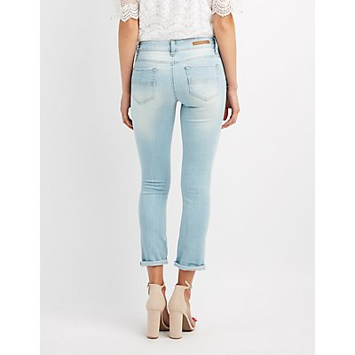 Dollhouse Distressed Cropped Skinny Jeans