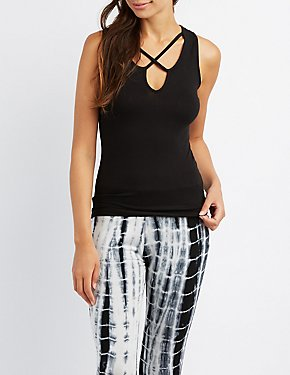 Ribbed Strappy Tank Top