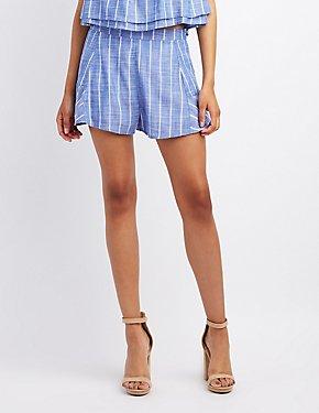 Striped High-Rise Shorts