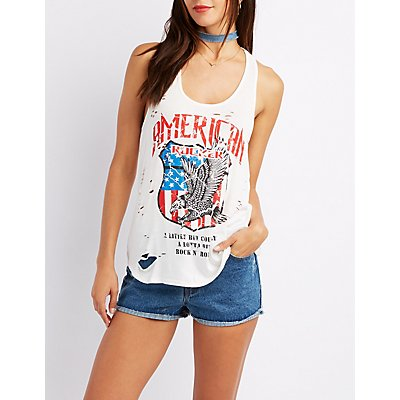 Destroyed America Graphic Tank Top