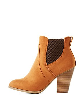 Side-Gored Chunky Heel Booties