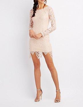 Eyelash Lace Bodycon Dress