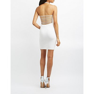 Super Strappy Halter Bodycon Dress