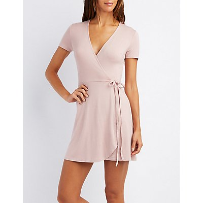 Tied Skater Wrap Dress