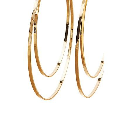Double Hoop Oversize Earrings