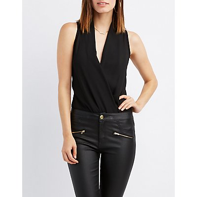 Wrapped Surplice Bodysuit