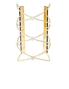 Plus Size Embellished Oversize Cuff Bracelet