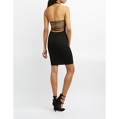 Super Strappy Halter Bodycon Dress