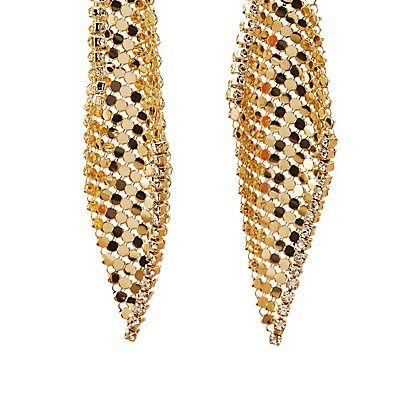 Embellished Chainmail Drop Earrings