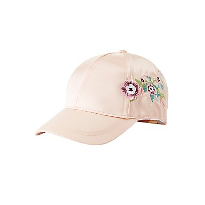 Embroiered Satin Baseball Hat