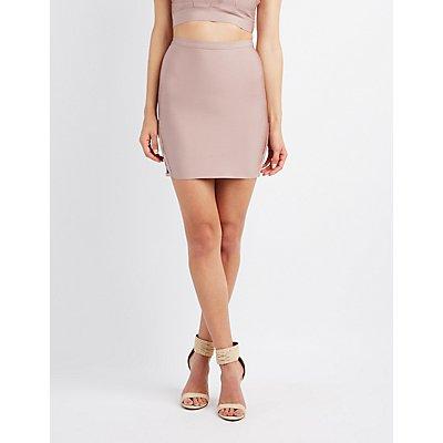 Bandage Lattice-Inset Skirt