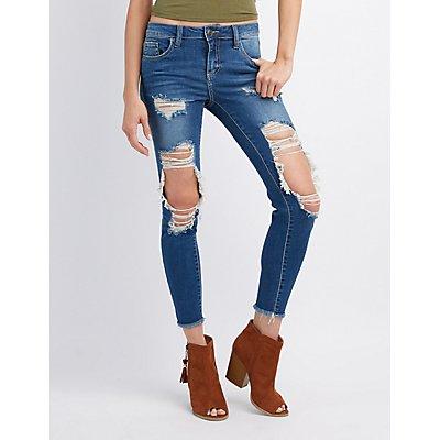 Cut Up Black Jeans - Xtellar Jeans